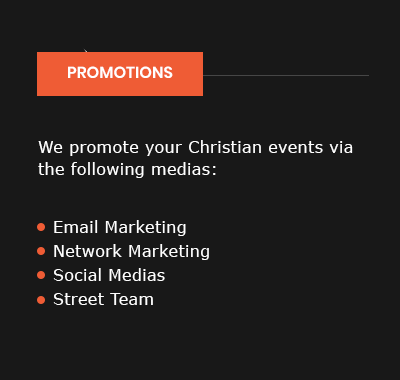 Christian Event Promotions